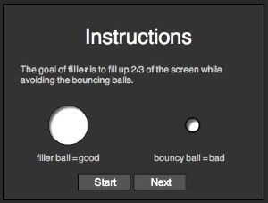 Filler instructions