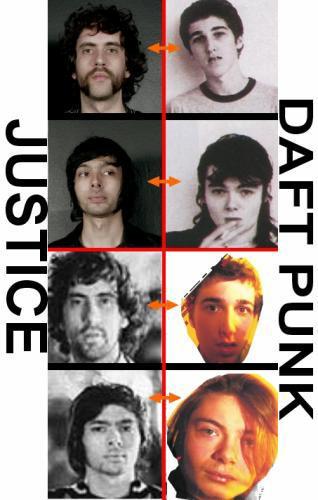 Comparaison Justice Daft Punk