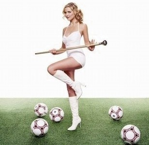 Majorette et football