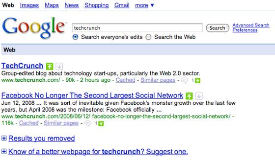 Changer les positions dans Google.