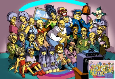 image Simpsons live