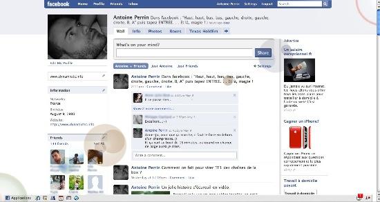le code pour les reflets dans facebook
