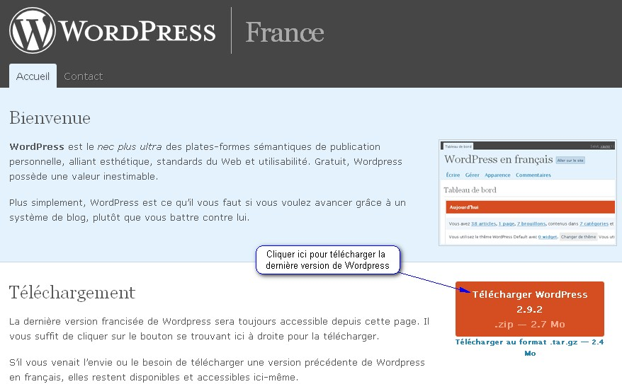 telechargement wordpress