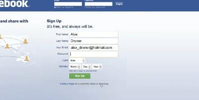 une vie sur facebook