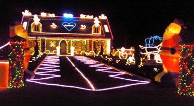 maison illuminée noel
