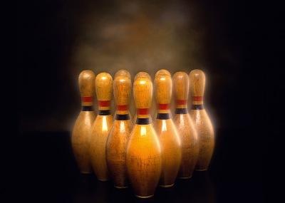 chat boule de bowling