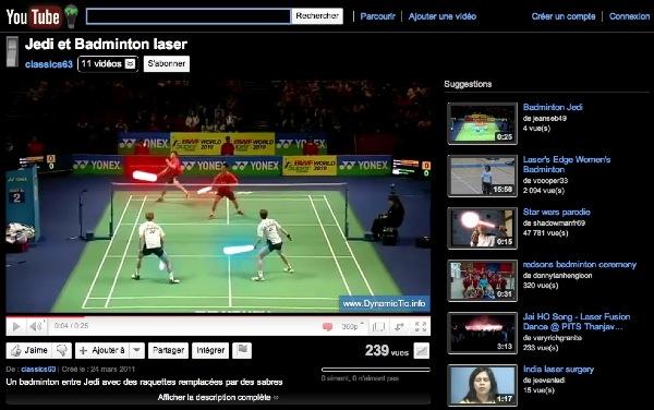 badminton sabre laser