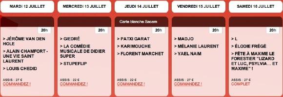 Programme francofolies 2011