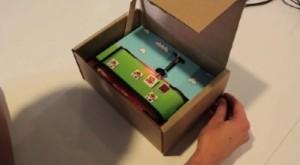 jeu video dans une boite