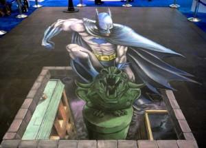Peinture 3d : Batman