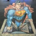 Peinture 3d : Superman