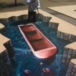 Peinture 3d : barque