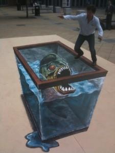 Peinture 3d : aquarium