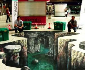 Peinture 3d : cavernes et grottes