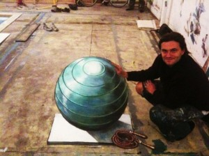 Peinture 3d : globe