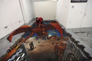 Peinture 3d : dragon domestique