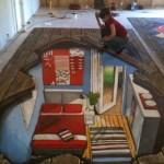 Peinture 3d : la chambre du dessous