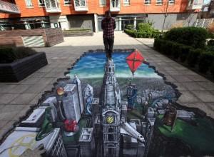Peinture 3d : le toit du monde