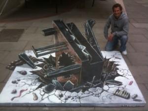 Peinture 3d : piano cassé