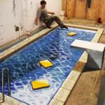 Peinture 3d : piscine intérieure