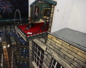 Peinture 3d : balcon