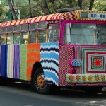 Urban knitting bus