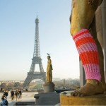 Urban knitting tour Eiffel