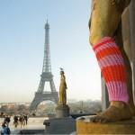 Urban knitting tour Eiffel