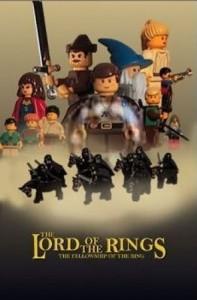 Affiche film Lego Seigneur des Anneaux
