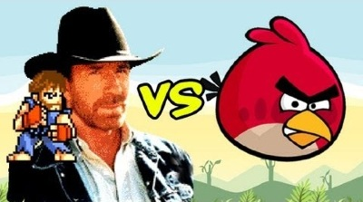 Chuck Norris Angry Birds
