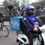 scooter domino's pizza