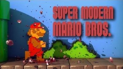 super modern Mario