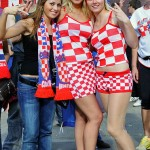 Supportrices croate à carreaux