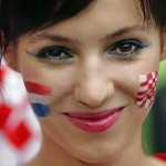 Supportrice de la Croatie en portrait
