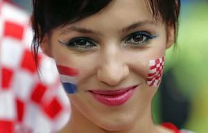 Supportrice de la Croatie en portrait