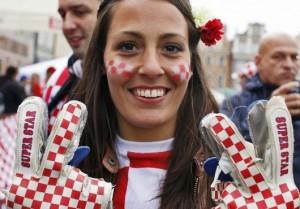 Supportrice de la Croatie