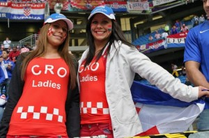 Deux supportrices croates