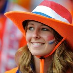 Jolie supportrice des Pays-Bas