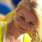 Jolie supportrice ukrainienne