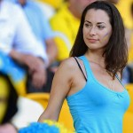 Supportrice brune ukrainienne