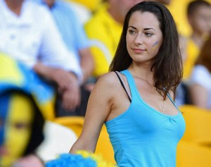 Supportrice brune ukrainienne