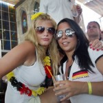 Deux supportrices allemandes posent