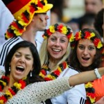 Trois supportrices allemandes