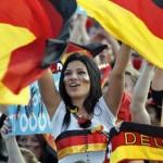 Supportrice allemande brune
