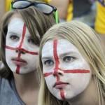 Supportrices aux visages peints
