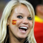 Jolie supportrice espagnole