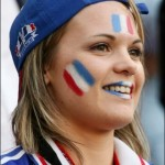 Belle supportrice française