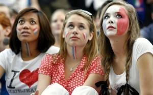 Groupe de supportrices françaises