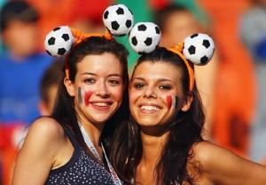 Deux supportrices françaises