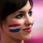 Supportrice de la France brune